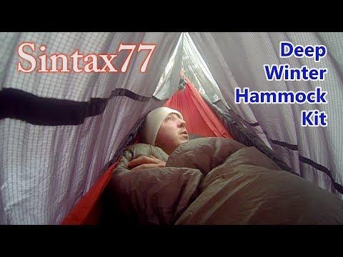 Deep Winter Hammock Camping System Sintax77