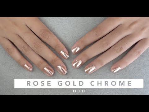 Download ROSE GOLD CHROME GEL NAIL TUTORIAL | ON NATURAL NAILS HD Mp4 3GP Video and MP3