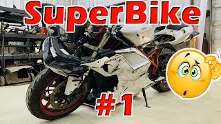 Is this even safe? Wrecked Smashed Copart SuperBike Rebuild Part 1