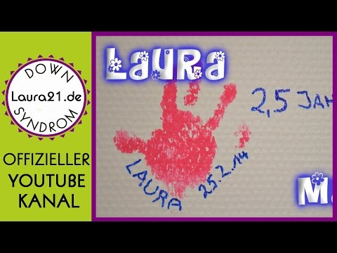 Watch video Down-Syndrom Laura - Malen