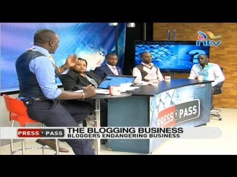 The blogging business and it's effect on society  - Press Pass part 1
