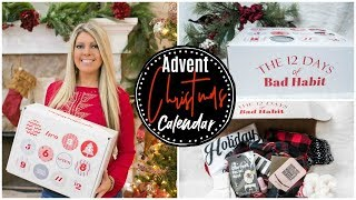 12 Days of BEAUTY ADVENT CALENDAR UNBOXING 2019 | Bad Habit Boutique Holiday Box