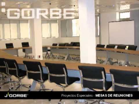 J. GORBE. Mobiliario de oficina. Proyectos Especiales. Mesas de reunión.