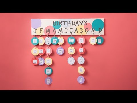 DIY Classroom Birthday Calendar - Ellison Education