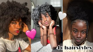 NATURAL 4C HAIRSTYLES TO DO DURING QUARANTINE COMPLICATION!! 💕SHORT/MEDIUM/LONG LENGTHS 🦋2020💓