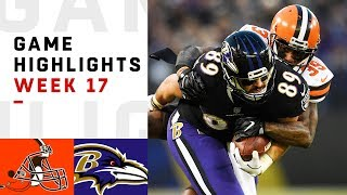 Browns vs. Ravens Week 17 Highlights   NFL 2018