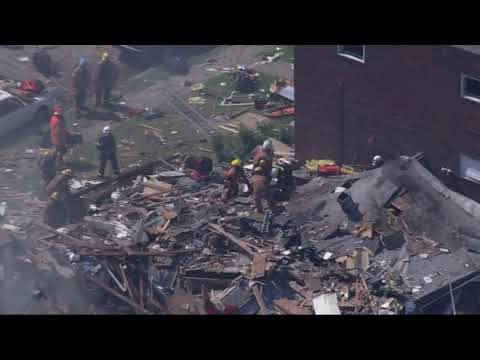 Baltimore Home Explosion – Aerial Video