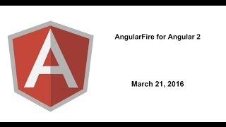 AngularFire for Angular 2