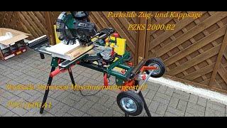 Parkside Universal Maschinen Untergestell PUG 1600 plus Kapp- und Zugsäge PZKS 2000 B2