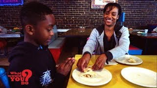 A family is out for a birthday lunch in Louisiana, where the 2nd highest percentage of people live below the poverty line. How will diners react when the family can only pay for one meal to share?  WATCH FULL EPISODES OF WWYD: https://abc.go.com/shows/what-would-you-do  Watch brand new WWYD episodes on Friday at 9PM on ABC!  Subscribe to WWYD ► http://bit.ly/WWYDSubs  Follow What Would You Do? across the web! Facebook: https://www.facebook.com/wwyd  Twitter: https://twitter.com/WWYDABC  Instagram: https://instagram.com/wwydabc/   What would you do when you think no one is watching? What Would You Do? (WWYD?) explores the varying answers with the help of hidden cameras capturing individuals who have been placed within seemingly everyday situation that quickly go ary. The individuals on this hidden camera show are forced to make tough calls when directly faced with situations of racism, violence, hate crimes, and other hot button cultural issues. Catch John Quinones reporting on these individuals as they make split-second decisions to intervene or mind their own business. WWYD? airs Friday nights at 9|8c on ABC.   What Would You Do? (WWYD) is a hidden camera show, hosted by ABC News correspondent John Quinones, in which unknowing bystanders are placed in uncomfortable, and often compromising real world scenarios in public. WWYD's hidden cameras focus on the average person's responses and reactions to these issues of social responsibility. Topics such as gay couples being affectionate in public, date rape, racism and racial profiling, interracial couples, abusive parents, drunk driving, and harassment of the homeless are touched upon in this series. What will you do? Would you choose to intervene in these situations? Watch and join the discussion.  #WhatWouldYouDo #WWYD #SocialExperiment #ABC
