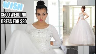 Download Youtube: I Bought A $30 Wedding Dress On Wish (Original price $500)