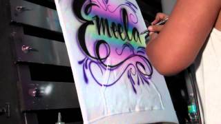 Colorful Hooded Sweatshirt Design By Art Spot Airbrush