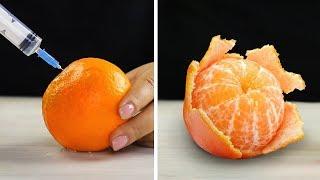 ٢٤ حيلة ذكية لتقشير وقطع الفواكه والخضروات