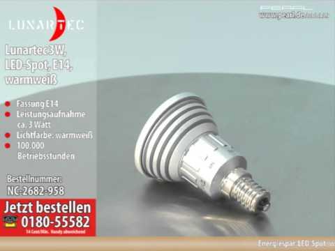 High-Power LED-Strahler, 3W LED, warmweiß, E14 (230V)