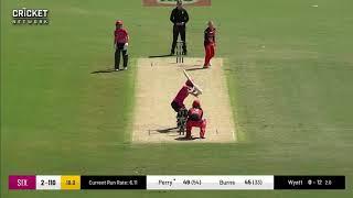 Erin Burns - Sydney Sixers innings v Renegades