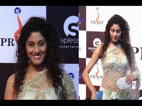Shraddha Musale gorgeous in transparent saree at Pride Gallantry Awards 2015.