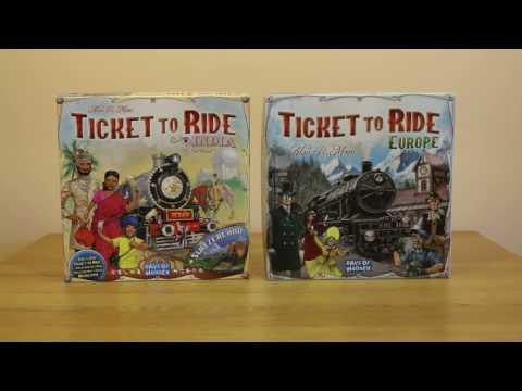Ticket to Ride: India és Svájc kiegészítő bemutató és szabályok
