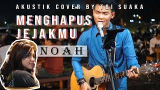 MENGHAPUS JEJAKMU - NOAH (LIRIK) LIVE AKUSTIK COVER BY TRI SUAKA