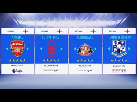 Top 10 English Teams To Use In FIFA 19 Career Mode