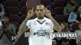 Chris Brown BALLIN @ Power 106 Celeb Basketball Game!