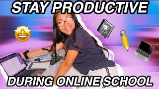 THE BEST ONLINE SCHOOL PRODUCTIVITY TIPS || How to stay focused working from home during quarantine