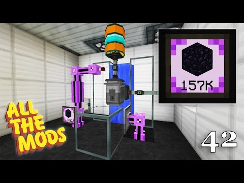 Minecraft : All The Mods 1.10.2 : #42 - Automatic Obsidian Generator (AE2)