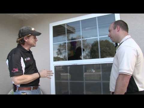 Dr. Energy Saver's owner and president was On the Job down in Florida helping us understand how to make homes more energy efficient in warmer areas of the country. Today, he focuses on how windows can lose or conserve energy. Clear glass, conventional windows allow infrared rays, the heat component of the solar spectrum, to pass through the pane and heat the interior of the house -- putting an extra load on the air conditioner. Windows with aluminum frames are even greater energy wasters, because aluminum is highly conductive.