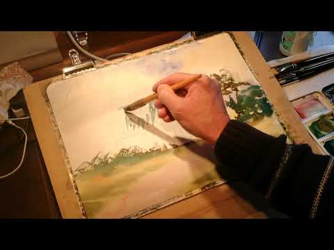 Thumbnail of How to paint a watercolour from a pencil sketch. #colinsteedart