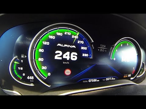 BMW Alpina B5 Biturbo Acceleration 0-200