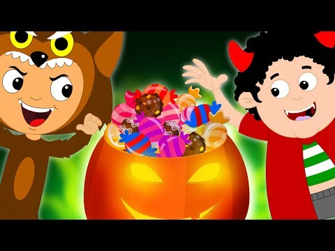 Knock Knock Trick Or Treat Scary Nursery Rhymes | Halloween Songs For Kids & Children