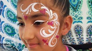 Fairy Eye Swirls - Elegant Linebuster Face Painting Tutorial