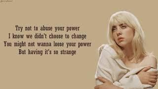 Billie Eilish - Your Power   Lyrics