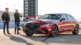 TRACK TEST: Introducing the 2022 Genesis G70 | MotorTrend by Motor Trend