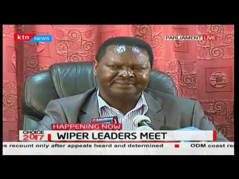 Wiper leaders say they received a raw deal now that Raila is NASA flag bearer