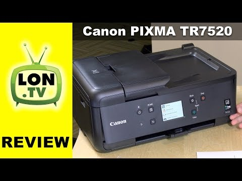 Canon PIXMA TR7520 All-In-One Printer Review: Scans, Copy, Fax, Print, Photos too