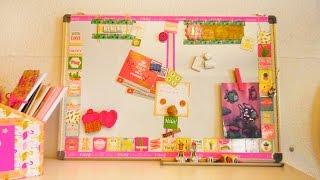 DIY PINNWAND gestalten | SOMMER LOOK im Studio Flamingos Ananas Kaktus und Metallic Washi Tape