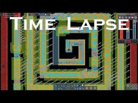 Factorio Timelapse - Spiral Megabase (8K Ultra HD)