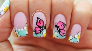 Aprende a decorar tus uñas con estas lindas mariposas