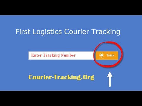 First Logistics Courier Tracking Guide