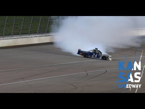 Brett Moffitt spins in final stage at Kansas