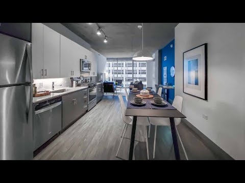 An -08 one-bedroom model at the Loop's new Parkline Chicago