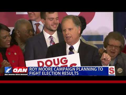 Roy Moore Campaign Planning to Fight Election Results