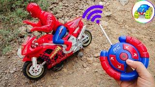Remote Control Toy - البحث عن الدراجات النارية ومركبات البناء وسيارات الإطفاء في الرمال - Kid Studio