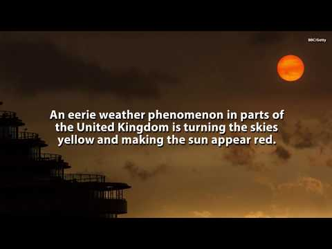 The Reason For The Red Sun And Yellow Skies After Hurricane Ophelia