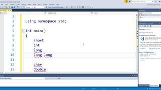 C++ Declaring Variables & Constants