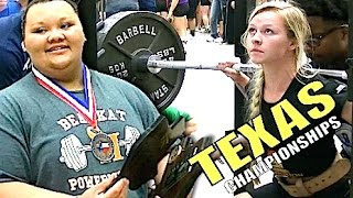 1,520 Pounds - State Record - Lexi Harris DOMINATES Texas H.S Powerlifting Championship.