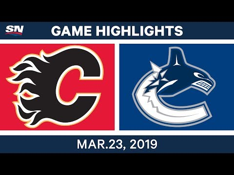 NHL Game Highlights | Flames vs. Canucks - March 23, 2019