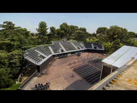 Video: NUSSLI assembled a temporary grandstand for 850 people, 150 m2 large stage and several smaller structures for the