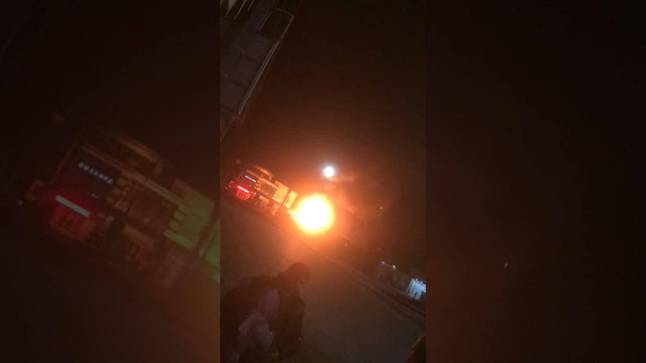 Мощный взрыв на АЗС в Махачкале