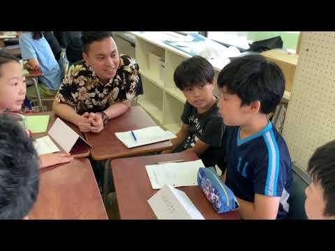 和光鶴川小学校 インドネシアの留学生と交流